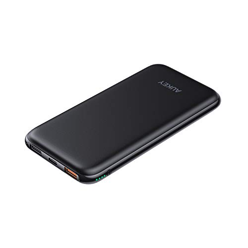 AUKEY Wireless Power Bank mit 18W Power Delivery, Wireless Charger Portable 8000mAh, USB C Power Bank mit QC 3.0, Wireless Charging Kompatibel mit iPhone XS/XR, Neue Airpods, Samsung