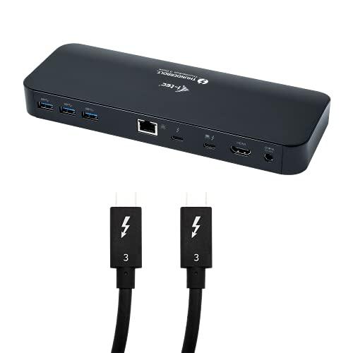 i-tec Thunderbolt 3 Dockingstation 2X 4K/1x 5K mit 65W Stromversorgung - 1x TB3 1x HDMI 5X USB 3.0 1x Ethernet 1x SD 1x Audio, TB3-Kabel 70cm