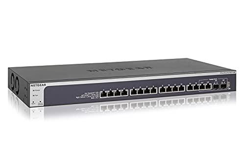 Netgear XS716T Switch 16 Port 10GbE Ethernet LAN Switch Smart (Managed Netzwerk Switch mit 2x 10G SFP+, Desktop oder 19 Zoll Rack-Montage, ProSAFE Lifetime-Garantie)