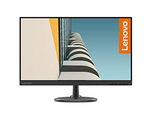 Lenovo C24-25 - 23,8' FullHD Monitor (1920x1080 Pixel, 16: 9, 75Hz, 4ms, 1000:1, VGA + HDMI Ports, 3 Seiten, randlos) Farbe Schwarz