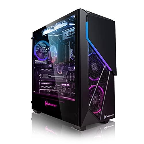 Megaport High End Gaming PC AMD Ryzen 7 3700X 8 x 4.40 Turbo • Nvidia GeForce RTX 2060 Super 8GB • 480GB SSD • 1TB HDD • 16GB DDR4 • Windows 10 • WLAN Gamer pc Computer Gaming Computer