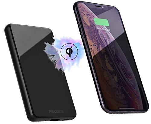 Pro User 2-in-1 magnetische Powerbank: kabellose Qi Ladefunktion für Unterwegs mit Magnethalterung und Powerpack, 5000mAh, USB-C, ideal für Handys mit Hülle