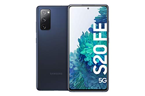Samsung Galaxy S20 FE 5G, Android Smartphone ohne Vertrag, 6,5 Zoll Super AMOLED Display, 4.500 mAh Akku, 128 GB/ 6 GB RAM, Handy in Dunkelblau inkl. 36 Monate Herstellergarantie [Exklusiv bei Amazon]