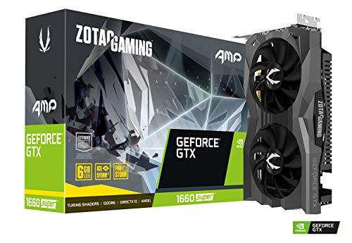 Zotac Gaming GeForce GTX 1660 SUPER AMP Edition (NVIDIA GTX 1660 SUPER, CUDA-Kerne 1408, 6GB GDDR6, 192 Bit, Boost-Takt 1.845 Mhz, 14 Gbps)
