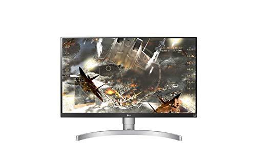 LG 27UK650-W 68,58 cm (27 Zoll) UHD 4K IPS Monitor (HDR10, AMD Radeon FreeSync, 99%sRGB, DAS Mode), schwarz weiß