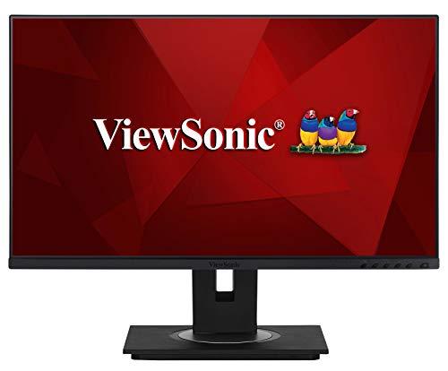 Viewsonic VG2455 60,5 cm (24 Zoll) Business Monitor (Full-HD, IPS-Panel, HDMI, DP, USB 3.0 Hub, USB C, Höhenverstellbar, Lautsprecher, Eye-Care, 4 Jahre Austauschservice) Schwarz
