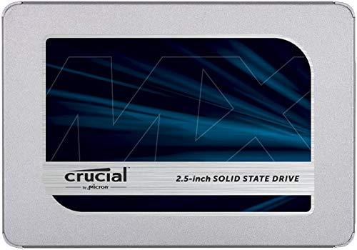 Crucial MX500 1TB CT1000MX500SSD1(Z)-bis zu 560 MB/s (3D NAND, SATA, 2,5 Zoll, Internes SSD)