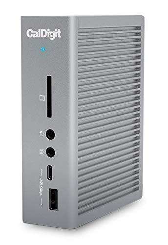 CalDigit TS3 Plus Thunderbolt 3 Dock – 85 W Ladung, 7 x USB 3.1 Ports, USB-C Gen 2, DisplayPort, UHS-II SD-Kartenslot, LAN, optischer Ausgang, für MacBook Pro & PC (Space Grey – 0,7 m Kabel)