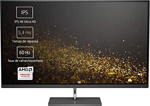 HP ENVY 27s (27 Zoll/ 4K UHD IPS) Monitor (AMD FreeSync, 2x HDMI, 1x DisplayPort, 3840 x 2160, 60Hz, 5,4ms Reaktionszeit) schwarz