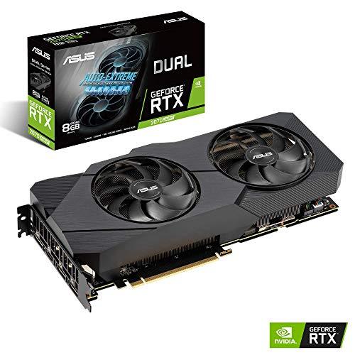 ASUS Nvidia GeForce RTX 2070S DUAL EVO 8G Super Gaming Grafikkarte (PCIe 3.0, 8GB DDR6 Speicher, HDMI, Displayport, USB Type-C)