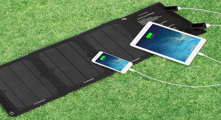 solar powerbank testsieger 2016 von ravpower geek magazin. Black Bedroom Furniture Sets. Home Design Ideas