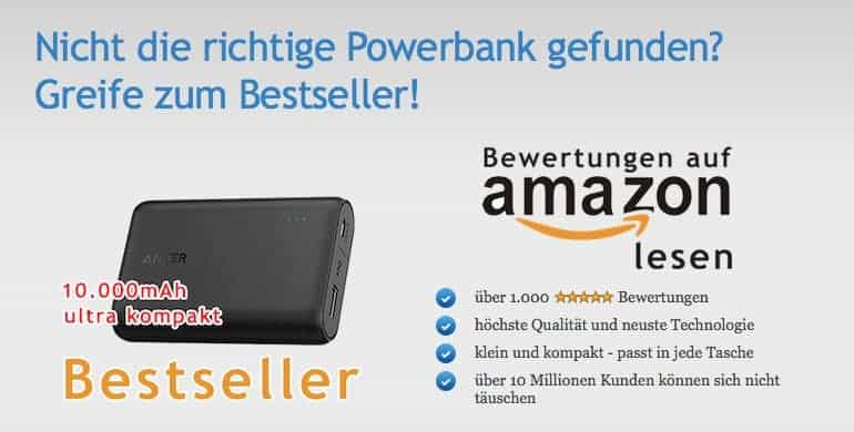 Powerbank-Bestseller-Powerbanks