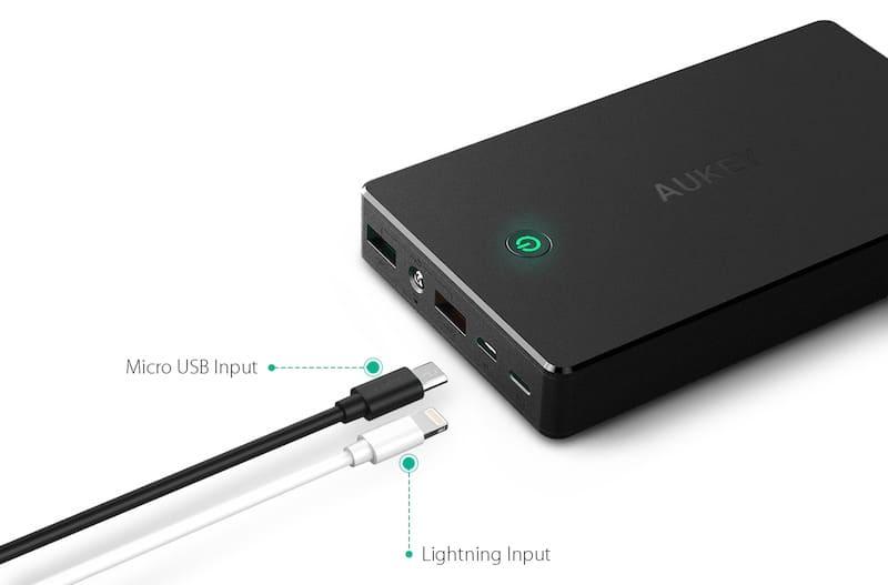 Aukey Powerbank mit Lightning Anschluss