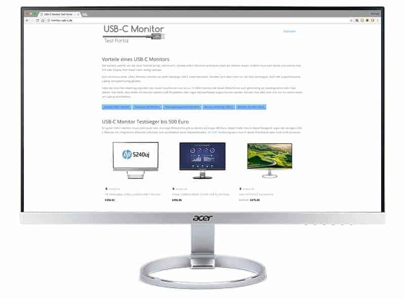 Acer H277HU USB-C Monitor