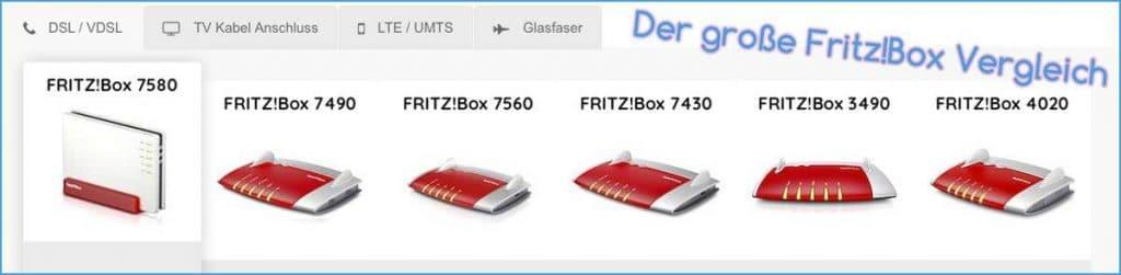 FritzBox Vergleich
