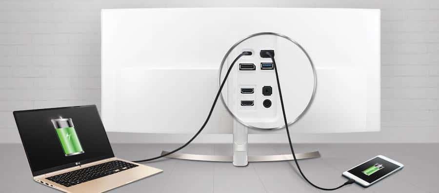 LG 38UC99-W USB Hub